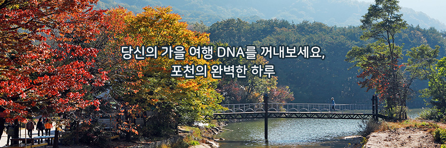 당신의 가을 여행 DNA를 꺼내보세요,포천의 완벽한 하루