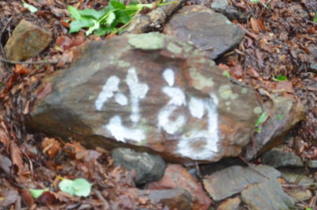 글자가 쓰여져 있는 돌
