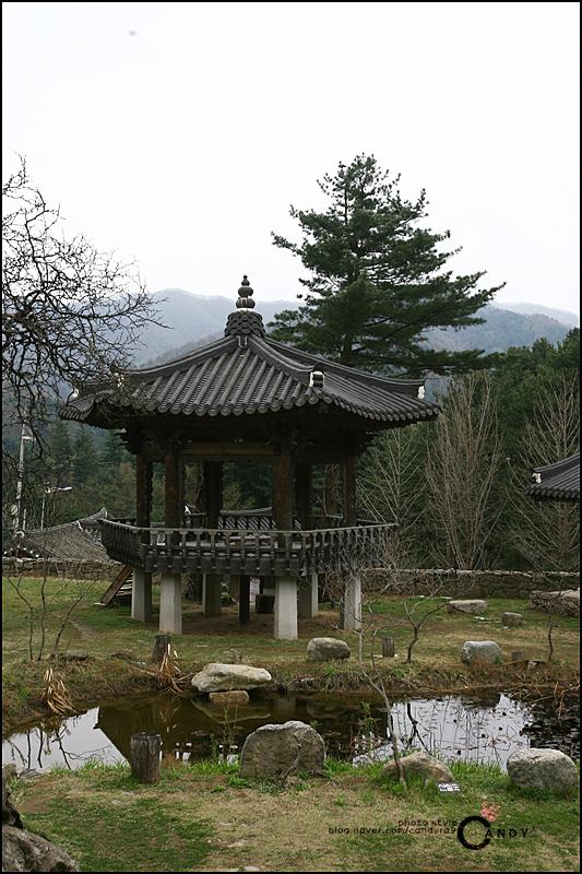연못과 정자의 모습