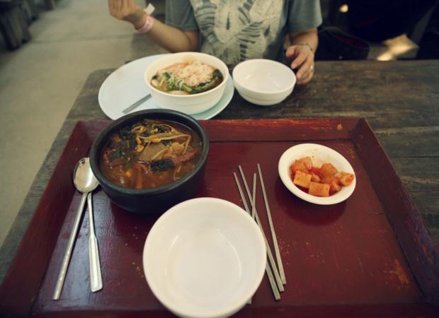 열무국수와 국밥