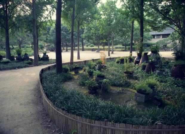 정원들의 모습