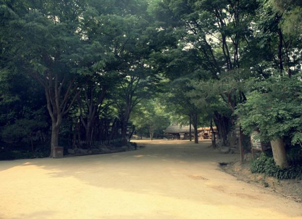 한산한 모습의 한국민속촌