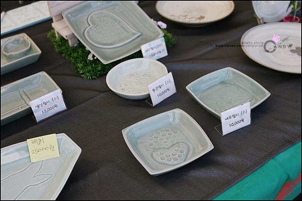 접시들의 모습