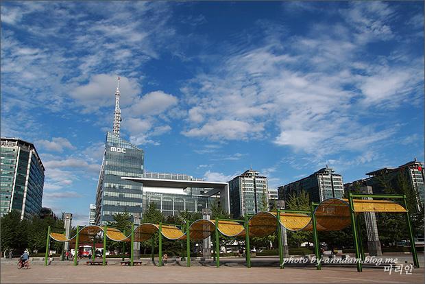 멀리 보이는 일산 MBC의 모습