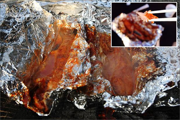 송어 양념구이의 모습