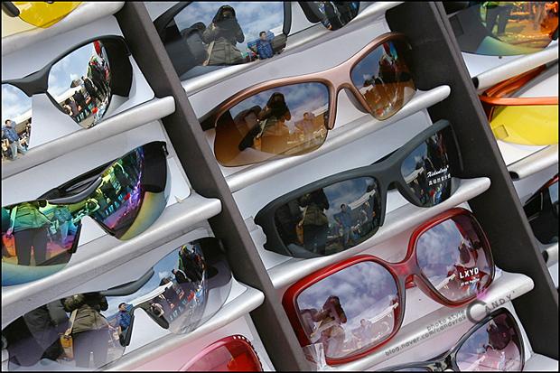 여러가지 모양의 안경