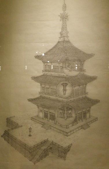 옛 탑의 그림도면