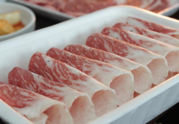 포장 된 고기의 모습