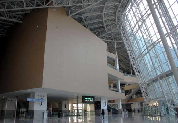킨텍스 건물 내부의 모습