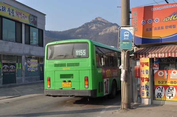 1155버스의 뒷모습
