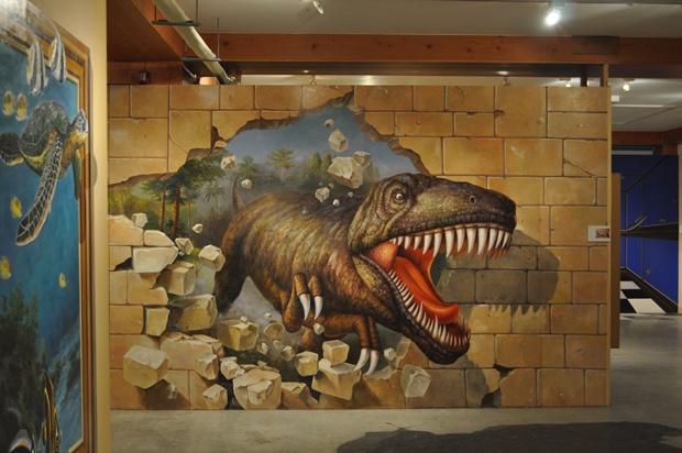 공룡 트릭아트