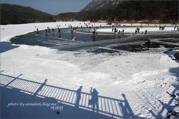 겨울의 산정호수