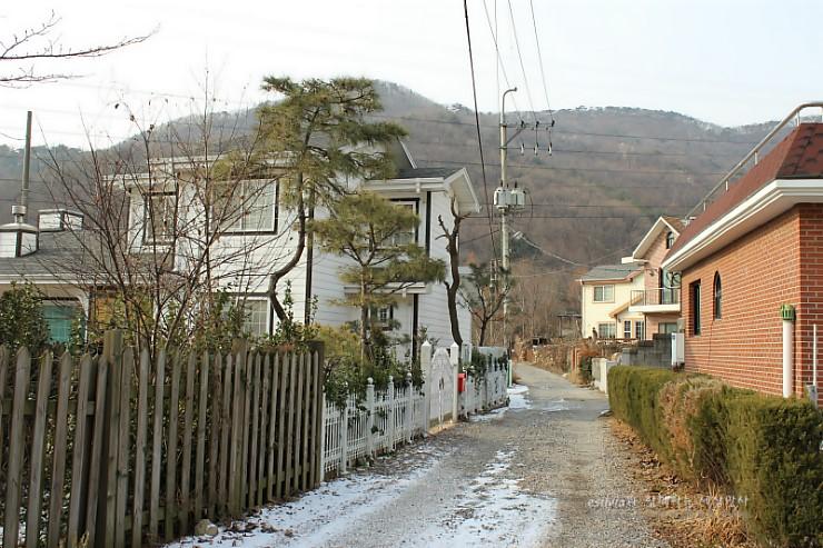 마을 골목의 모습