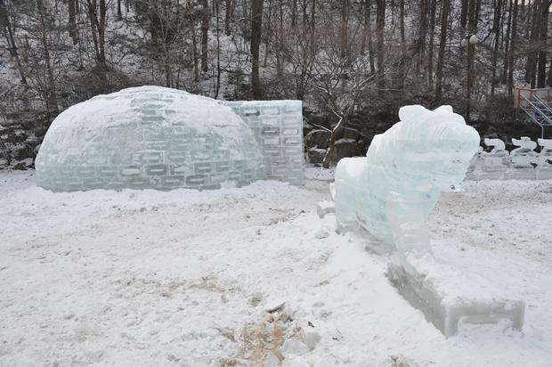 이글루 얼음조각