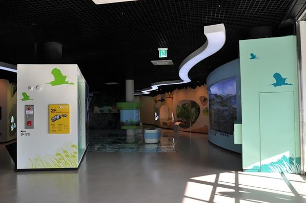 생태이야기관 2층 전시실의 모습