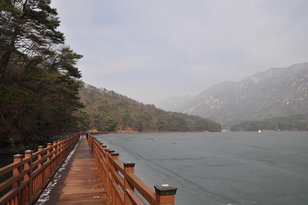 수변 산책로의 모습