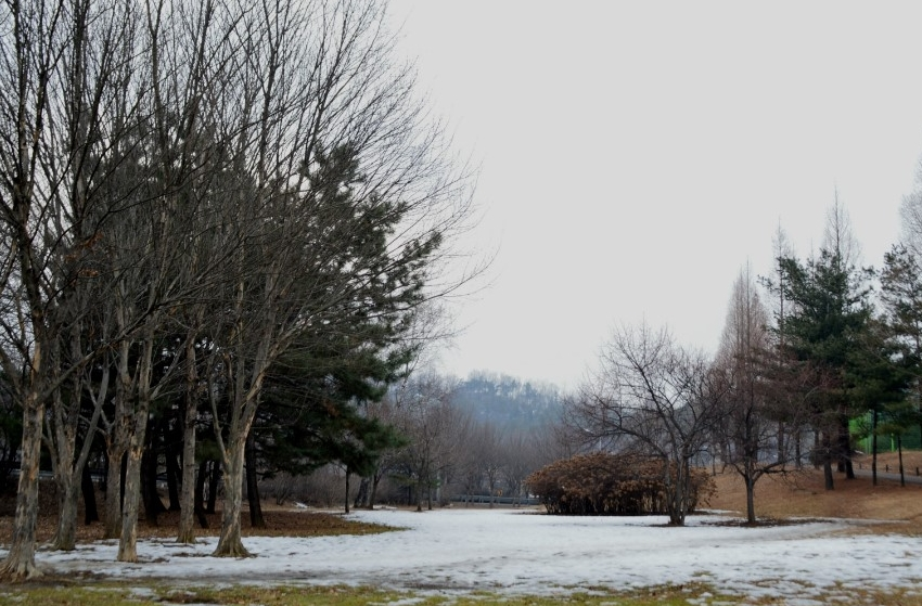 눈 덮인 조각공원