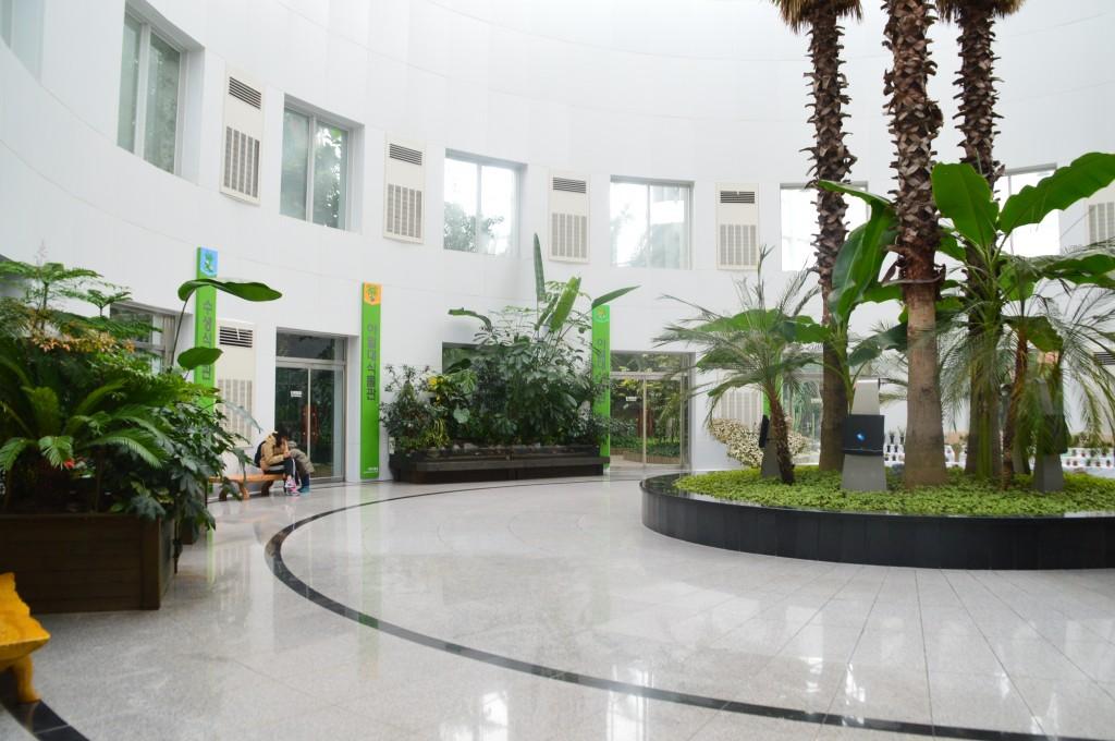 식물원의 중앙정원의 모습