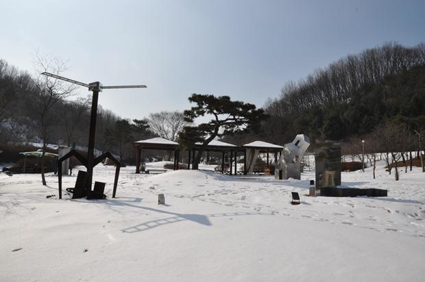조각공원의 겨울 풍경