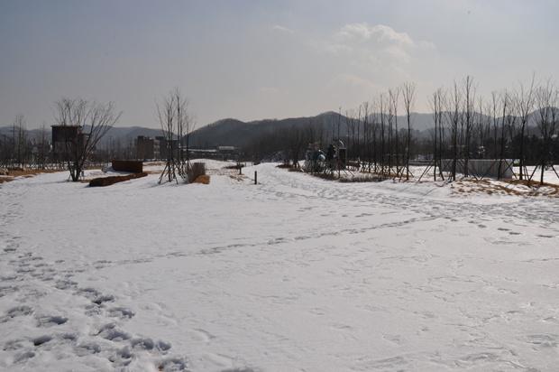 눈덮인 공원