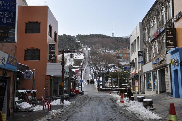 시내의 모습