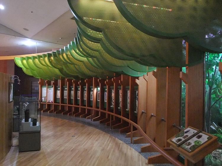 물향기산림전시관 내부