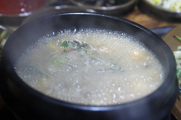 보글보글 끓고 있는 된장찌개
