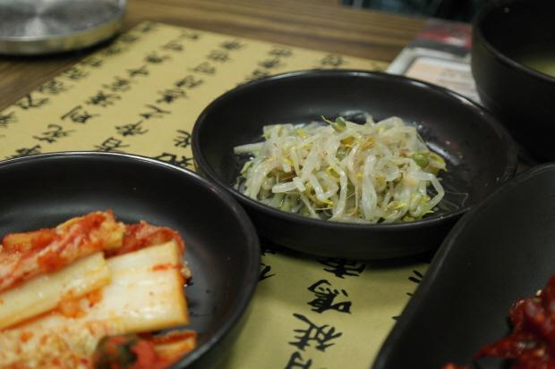 배추김치와 숙주나물