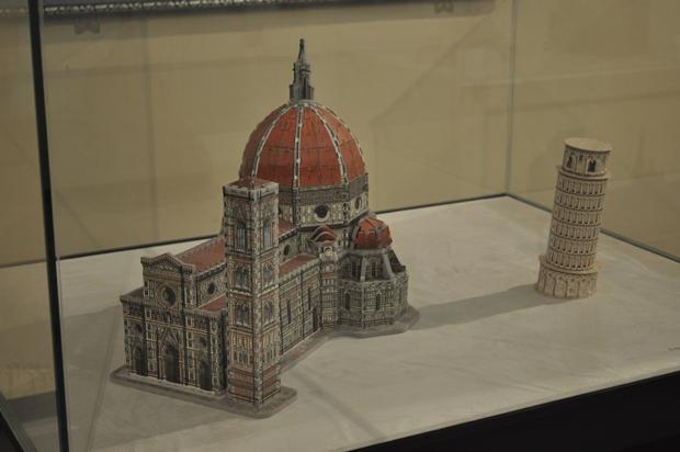 퍼즐로 만든 피렌체 성당과 기울어진 피사의 사탑