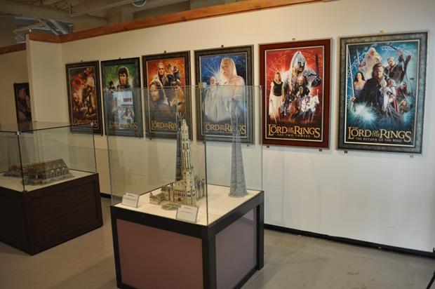 퍼즐로 만든 반지제왕 포스터 및 건물들