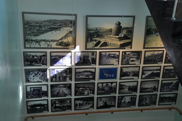 벽에 걸린 여주의 역사사진들