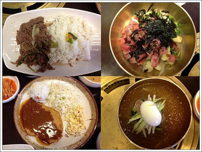 목원의 메뉴들, 회덮밥, 묵냉면, 불고기 덮밥, 돈까스