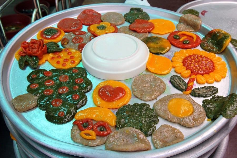 완성된 보리개떡의 모습