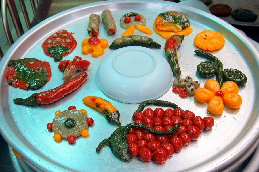 다양한 모양의 보리개떡의 모습