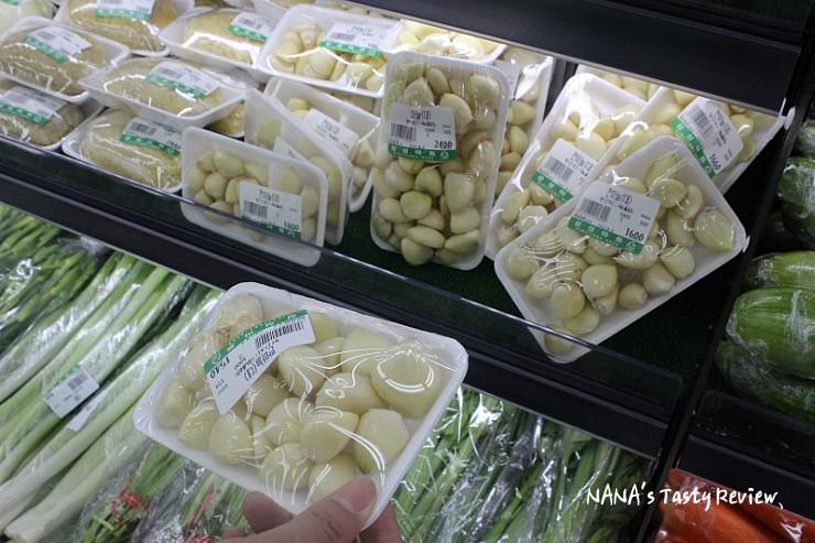 포장되어 있는 마늘 및 야채들