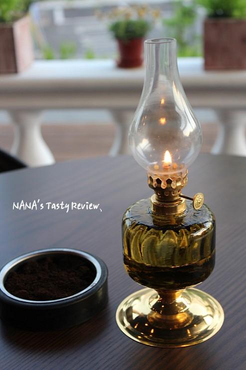 램프에 불이 들어온 모습