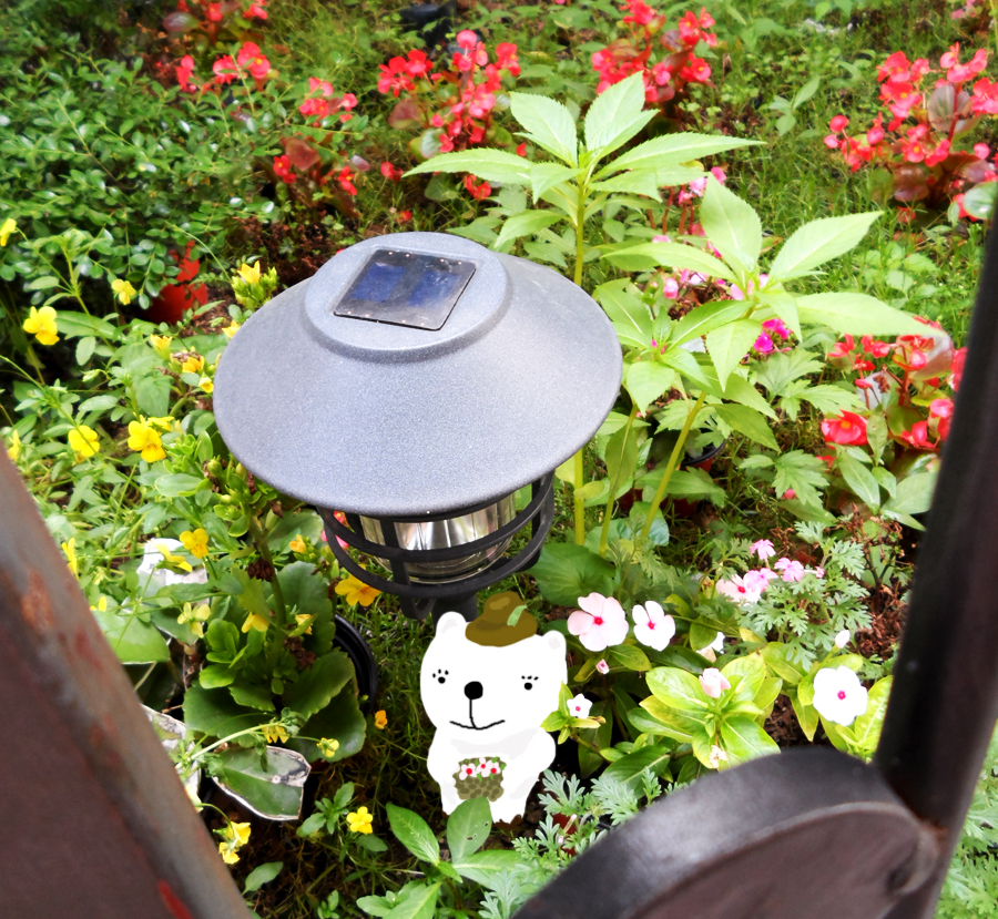 카페 앞에 예쁜 정원