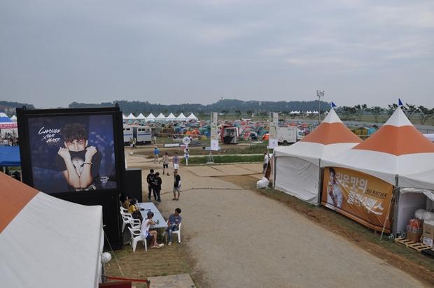공연장 안쪽에 마련되어 있는 캠핑장의 모습