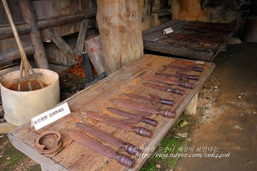 대장간에서 쓰던 도구들