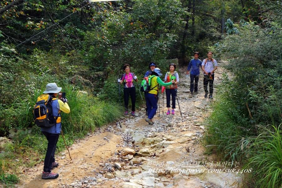 등산을 하는 사람들의 모습