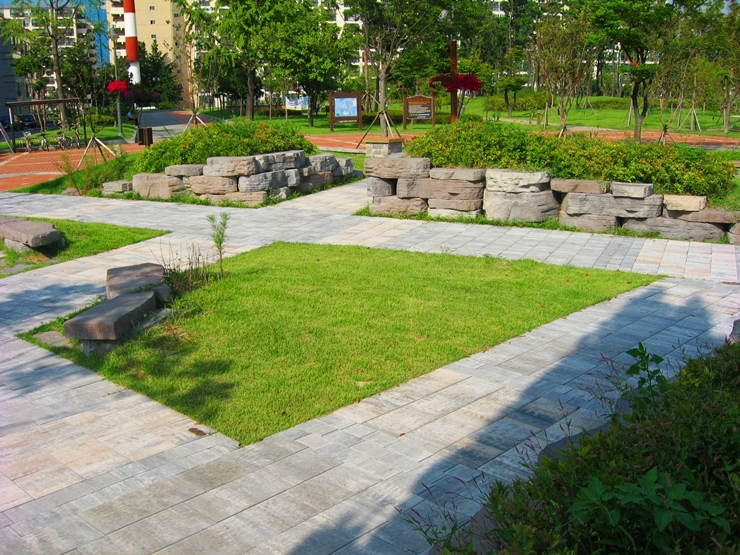 푸른색 정원