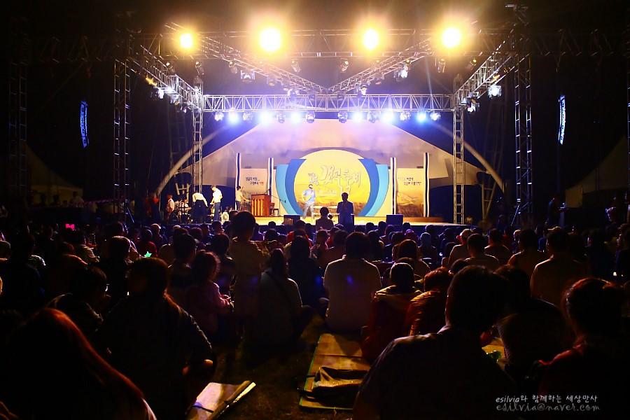 축제의 밤, 공연을 관람하는 사람들
