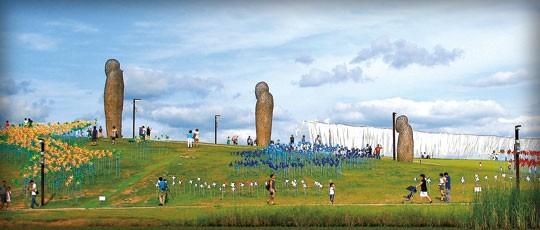 임진각평화누리공원 그림의 모습