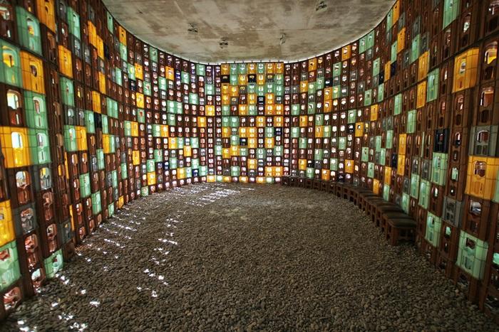 독일 작가들이 맥주 박스들로 만든 작품