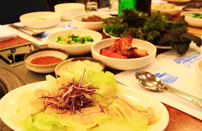 수원맛집 - 연포갈비 밑반찬