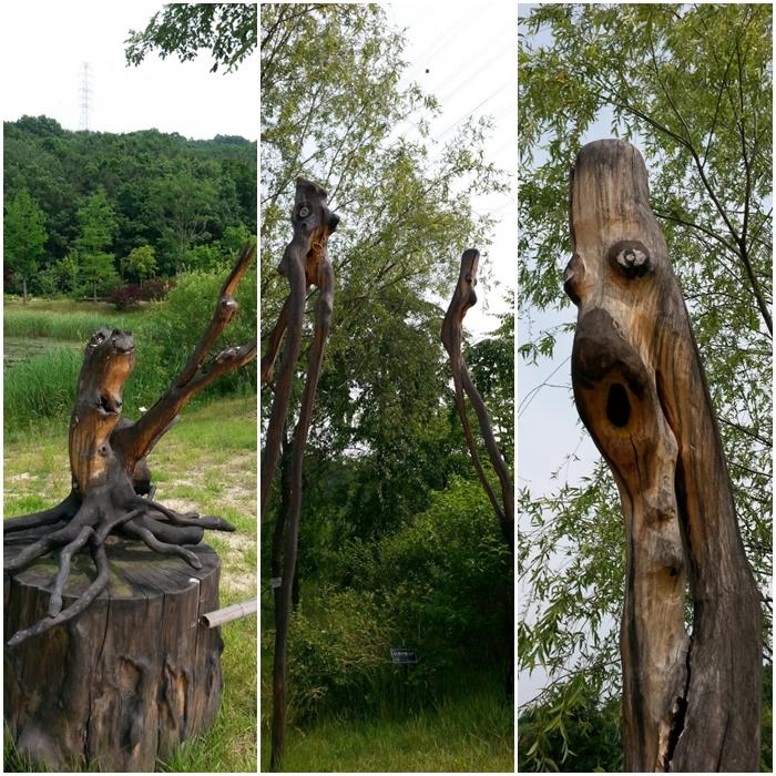 황학산 수목원 나무 조형물