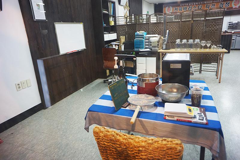 카페 갤러리아 커피 체험관 내부 모습
