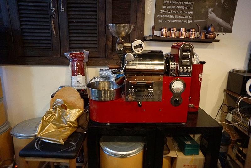 카페 갤러리아 커피 로스팅 기계