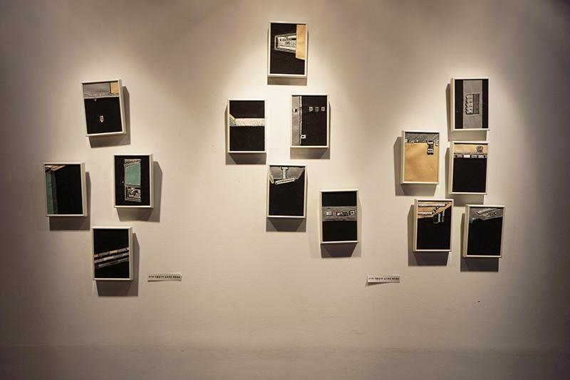 양주 카페 갤러리아에서 진행된 작품전 모습
