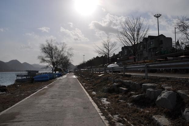 북한강변 산책로